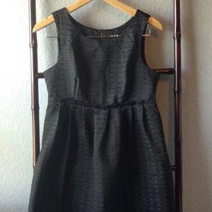 BCBG Paris Signature Black Pleated Cocktail Dress